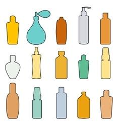 Bottle set doodle vector image