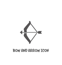 Bow and arrow icon simple flat style vector