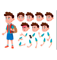 Boy child kid teen friend clever vector