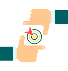 business focus goal vector image