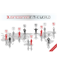 businessman concept business world red vector image