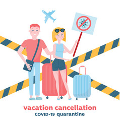 Cancelled flights and traveling vacations because vector