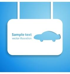 Car applique background vector