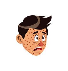 Cartoon man with health problem allergy vector