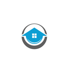 circle house logo vector image
