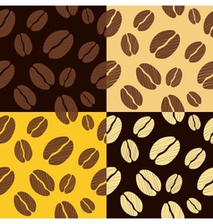 coffee beans seamless pattern background pattern vector image
