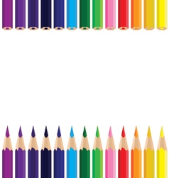 Colorful pencil background Color pencil on a white vector