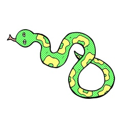 comic cartoon snake vector image