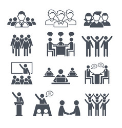 Corporate team icons professional people business vector