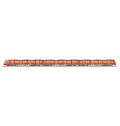 detailed underground train car isolated vector image