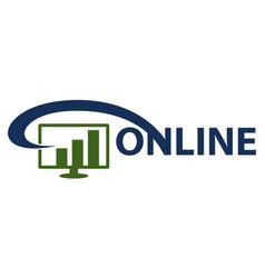 digital business solution vector image