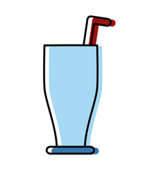 drink with straw vector image