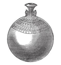 Egyptian aryballos vintage engraving vector image