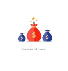 Financial risks prize fund money icon dangerous vector