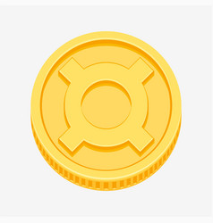 generic currency symbol on gold coin vector image