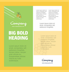 grapes business company poster template with vector image