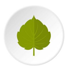 green alder leaf icon circle vector image