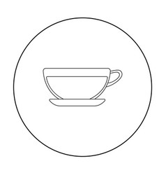 Green tea icon of for web and vector