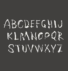 Handwritten brush font with shabtexture vector