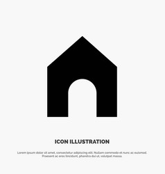 Home instagram interface solid glyph icon vector