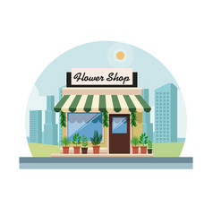 hower shop store vector image
