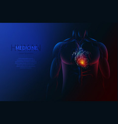 Human body and heart vector