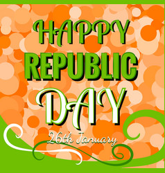 Indian republic day 26 january concept vector