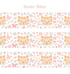 Kitten border vector