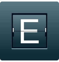 Letter E from mechanical scoreboard vector