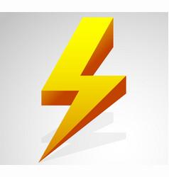 lighting bolt sparkle shape lighting bolt vector image