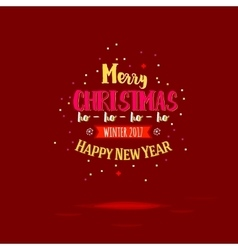 Marry christmas on red vector