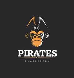 Modern professional logo emblem pirates vector