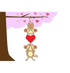 monkeyinlove3 vector image
