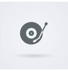 musical plate icon vector image