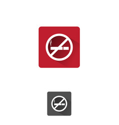 no smooking icon vector image