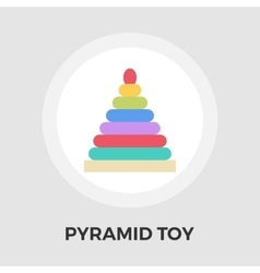 Pyramid toy flat icon vector image