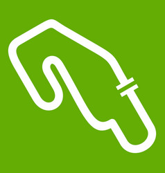 race circuit icon green vector image