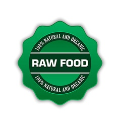 Raw food badge vector image vector image