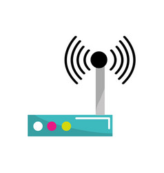 router connection wifi service icon vector image