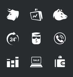 set of stock exchange icons vector image