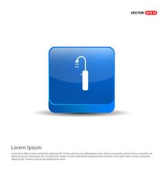 shower icon - 3d blue button vector image