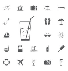 soda icon summer set vector image