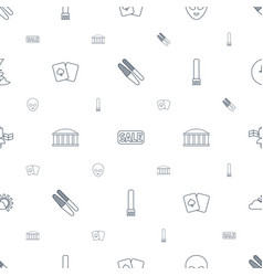 Space icons pattern seamless white background vector