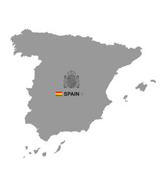 spain map with coat arms vector image