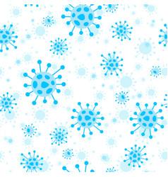 Stop coronavirus covid-19 seamless pattern vector
