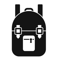 Survival backpack icon simple style vector