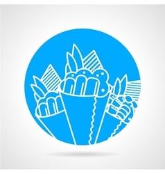 Temaki blue round icon vector image