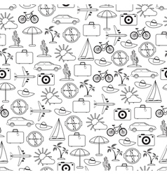 Travel and vacation seamless pattern vector