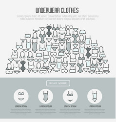 underwear clothes concept in half circle vector image