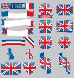 United kingdom flags vector